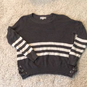 Grey Striped Sweater WORN ONCE